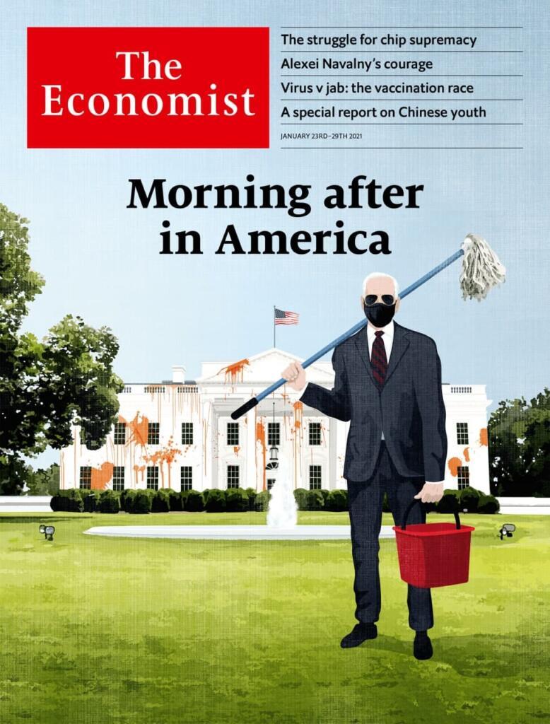 جلد اکونومیست: صبح روز بعد در آمریکا